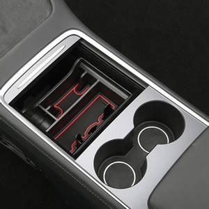 Bilde av Midtkonsoll oppbevaring med mobilholder Tesla